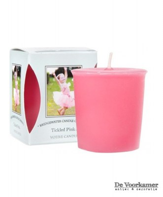 Bridgewater Candle Company Votive Tickled Pink De Voorkamer