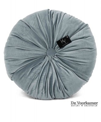 kussen,blauw,blue,velvet,kolony,pillow,rond,round,cushion,boho